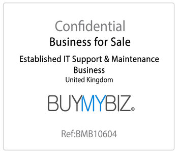 Established IT Support & Maintenance Business for Sale!